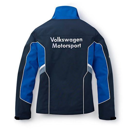 WOMENS BLUE GREY SOFT SHELL SMALL JACKET COAT GENUINE VW